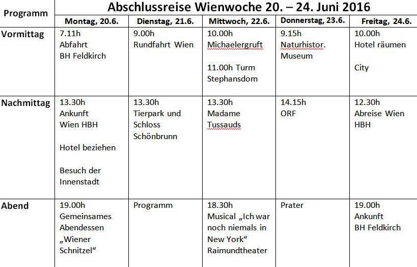 Programm Wien